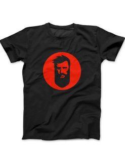 მაისური წვერი გე-ს ლოგოთი - შავი ფერის წითელი ლოგოთი