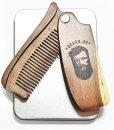 ხის გასაშლელი სავარცხელი წვერისთვის და თმისთვის - Beard.ge