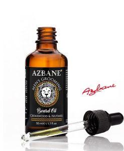 Azbane Cedarwood & Nutmeg Dropper - პრემიუმ კლასის წვერის ზეთი Beard.ge-ზე