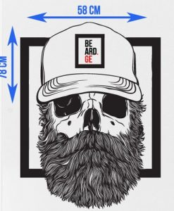 Bearded Sticker Zoomed - Beard.ge