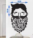 My Beard My Rules Sticker - Beard.ge