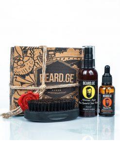 აჩუქე მამაკაცს წვერის ჯაგრისი წვერის ზეთი და შამპუნი - Beard.ge