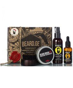 აჩუქე მამაკაცს - წვერის ჯაგრისი წვერის ზეთი და შამპუნი - Beard.ge