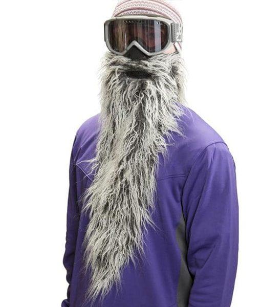 Long Beard Warm Mask for Skiing - BeardSki Easy Rider - Beard.ge