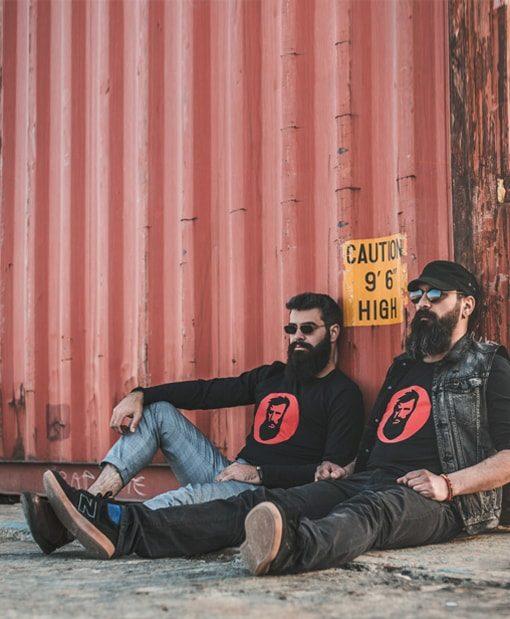 გრძელმკლავიანი მაისური Beard.ge ლოგო წითელი