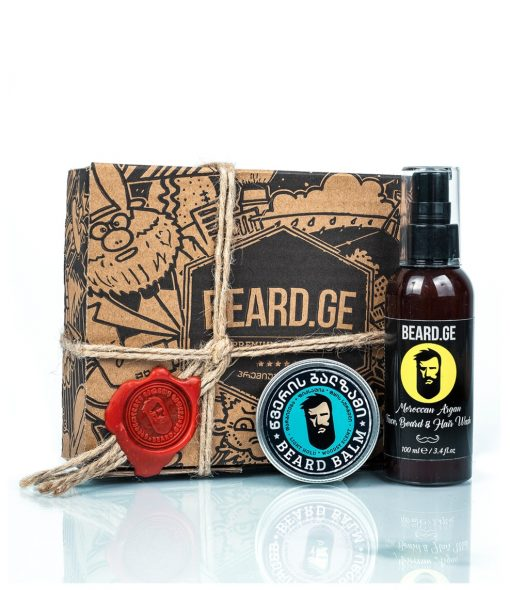 კაცის საჩუქარი წვერის ბალზამი და წვერის შამპუნი - Beard.ge