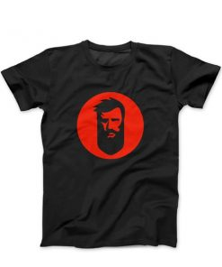 T-Shirt with Red Beard.ge Logo