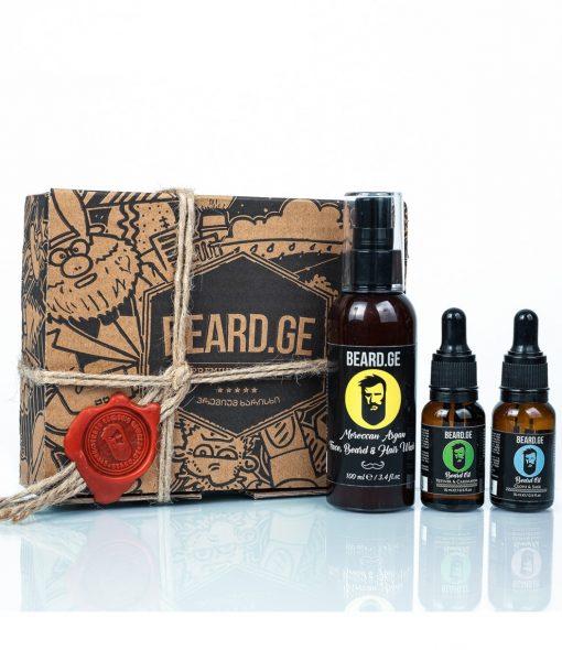 მამაკაცის საჩუქარი 2 ცალი წვერის ზეთი და შამპუნი - Beard.ge