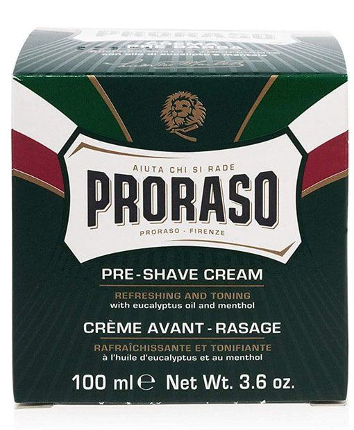 პარსვამდე კრემი კანის საუკეთესო პარსვისთვის მოსამზადებლად Proraso - Beard.ge