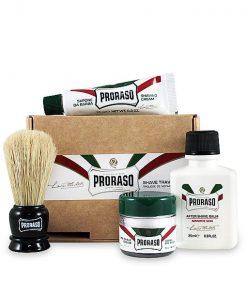 სამგზავრო სასაჩუქრე ნაკრები საპარსი საშუალებებით Proraso - Beard.ge
