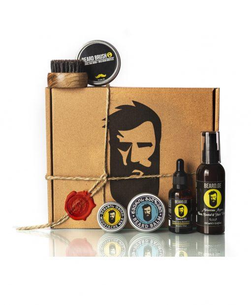 სასაჩუქრე კოლოფი წვეროსანი მამაკაცისთვის 5 საჭირო ნივთით - Beard.ge