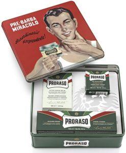 სასაჩუქრე ნაკრები იტალირუი საპარსი საშუალებებით Proraso - Beard.ge