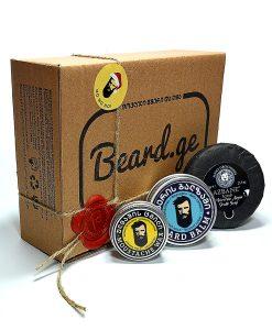 სასაჩუქრე ნაკრები წვერის საპონი ბალზამი და ცვილი - Beard.ge