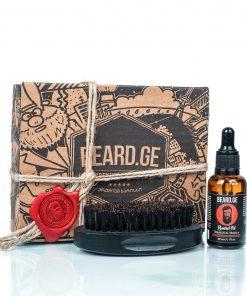 საჩუქარი კაცისთვის წვერის ჯაგრისი და წვერის ზეთი - Beard.ge