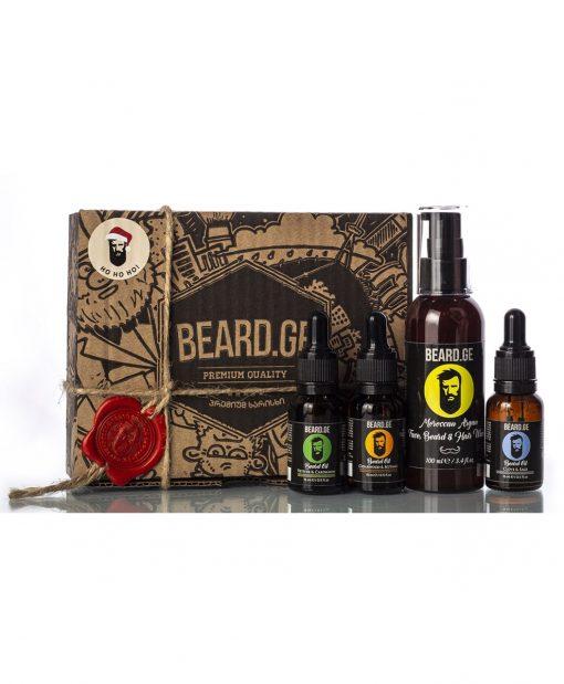 საჩუქარი კაცისთვის 3 ცალი წვერის ზეთი 15მლ და შამპუნი - Beard.ge