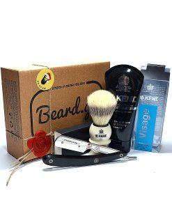 საჩუქარი ნებისმიერი კაცისთვის სამართებელი საპარსი კრემი და ასაქაფებელი - Beard.ge