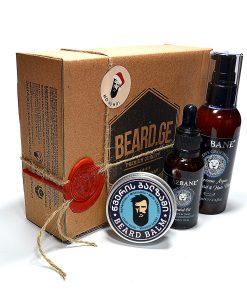 საჩუქარი წვერის ზეთი შამპუნი და წვერის ბალზამი - Beard.ge