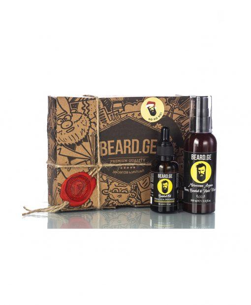 საჩუქარი წვეროსანისთვის წვერის ზეთი და შამპუნი - Beard.ge