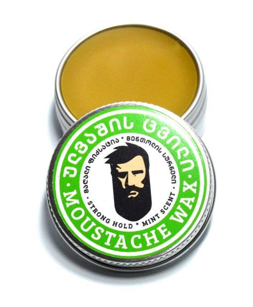 ულვაშის ცვილი მენთოლი სუპერ ფიქსაციით - Beard.ge