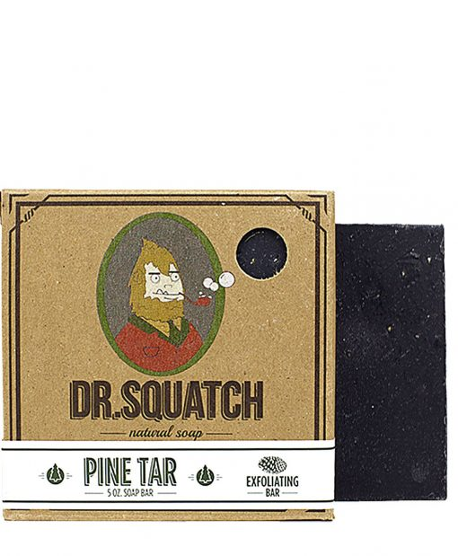 Black Beard Soap - Pine Tar Dr Squatch at Beard ge