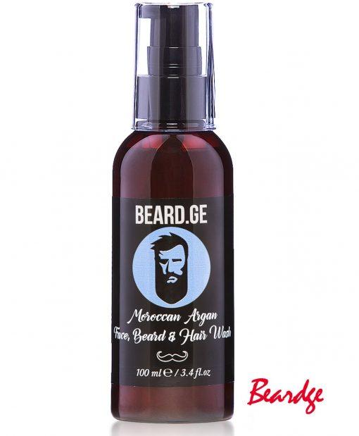 შამპუნი წვერი თმა და სახის დასაბანად 100მლ პრემიუმ ხარისხი - Beard.ge