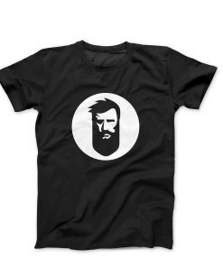 T-Shirt with White Beard.ge Logo