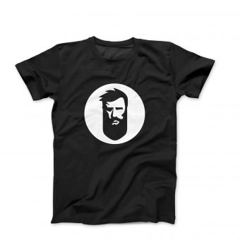 T-Shirt with White Beard.ge Logo