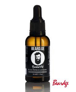 წვერის დამარბილებელი ზეთი 30მლ Black Pepper & Lavender - Beard.ge