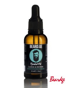 წვერის დამარბილებელი ზეთი 30ml Laurel & Incense - Beard.ge