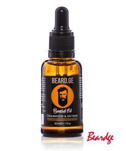 წვერის ზეთი 30მლ Cedarwood & Nutmeg - Beard.ge