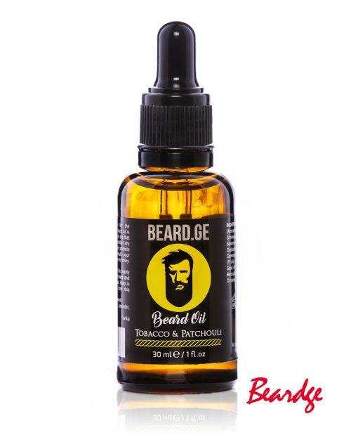 წვერის ზეთი 30მლ Tobacco & Patchouli - Beard.ge