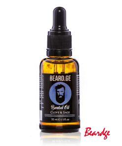 წვერის ზეთი Clove & Sage 30მლ - Beard.ge