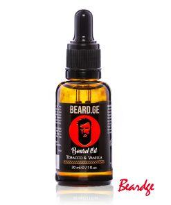 წვერის ზეთი Tobacco & Vanilla 30ml - Beard.ge