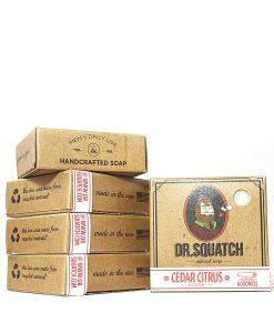 წვერის საპონი დამზადებულია ხელით აშშ-ში Cedar Citrus Dr Squatch