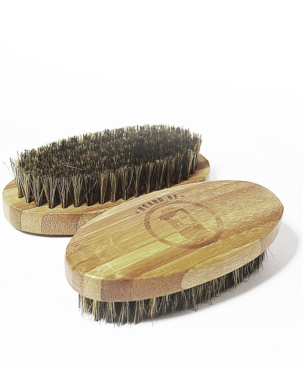 Beard brush made by wild boar bristle and bamboo - Beard.ge