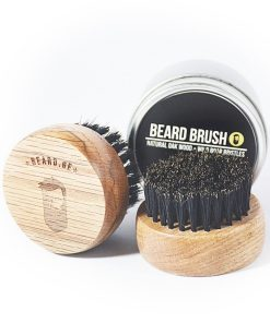 Beard brush natural oak and wild boar bristle - Beard.ge