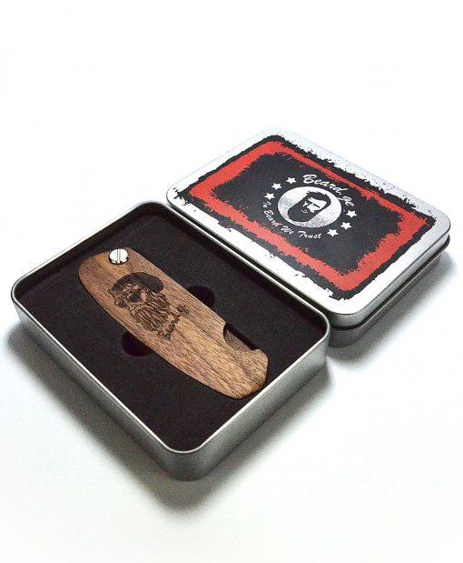 Pocket Comb Made by Walnut Wood - Beard.ge