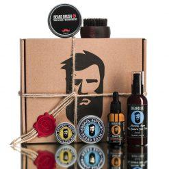 #14 - სასაჩუქრე კოლოფი წვეროსანი მამაკაცისთვის 5 საჭირო ნივთით Beard.ge