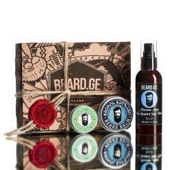#3 - სასაჩუქრე-კომპლექტი-ბიჭისთვის-ულვაშის-ცვილი-წვერის-ბალზამი-და-შამპუნი-Beard.ge