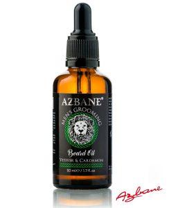 Azbane Vitiver & Cardamom - პრემიუმ კლასის წვერის ზეთი Beard.ge-ზე
