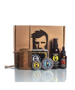 Beard Pack with 5 items - Beard oil balm comb wax and shampoo - Beard.ge