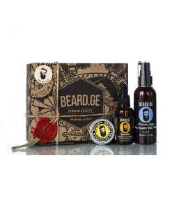 Gift Box - 30მლ წვერის ზეთი ულვაშის ცვილი და შამპუნი - Beard.ge