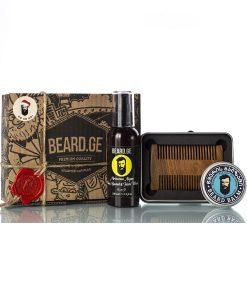 Gift box წვერის და თმის შამპუნი ბალზამი და სავარცხელი - Beard.ge