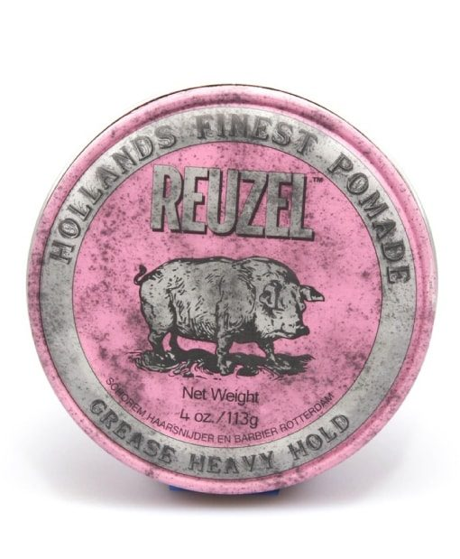 High hold reuzel pink pomade with medium shine at beard.ge
