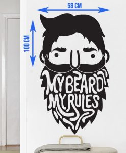 My Beard My Rules Sticker - Beard.ge