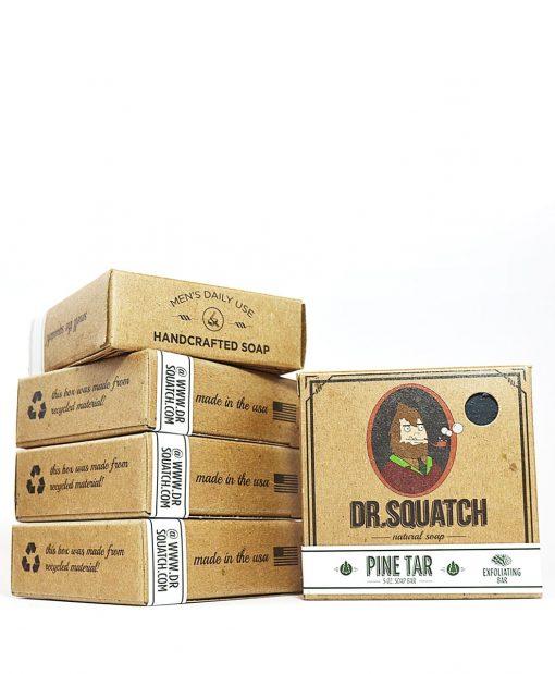 Pine Tar Dr Squatch კაცური საპონი ტანისთვის და წვერისთვის - Beard.ge
