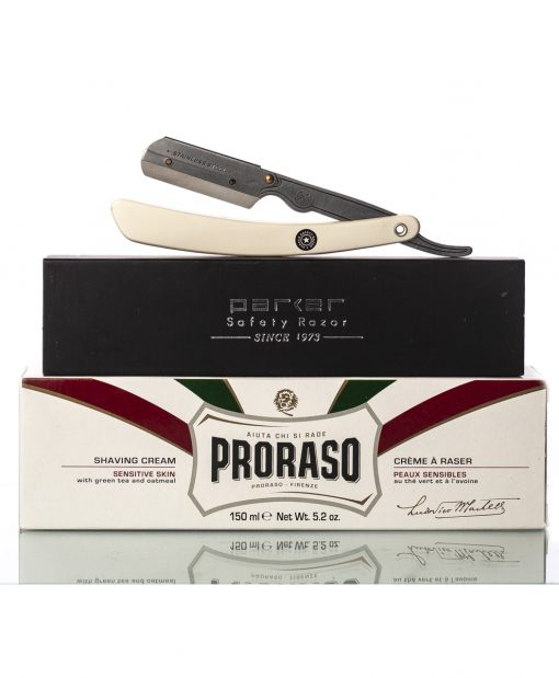 Proraso shaving cream and parker srb gift set